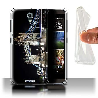 STUFF4 Gel/TPU Case/Cover for HTC Desire 820 Mini/Tower Bridge/London England