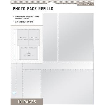 K & compagnie Photo Page recharges 8.5 « X 11 » 10/Pkg-(2) 4 x 6 & (1) 7 « X 5 » poches 30706699