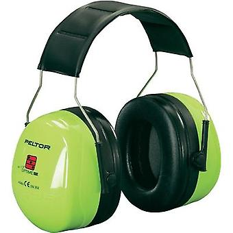 Peltor H540AV Optime III Hi-Viz Ear Defenders Green (fluorescent)