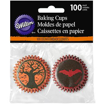 Mini Baking Cups-Hallows Eve 100/Pkg W9969