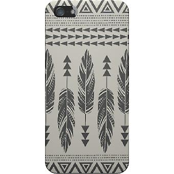 Tribal cover-feathers-black for iPhone 4S/4