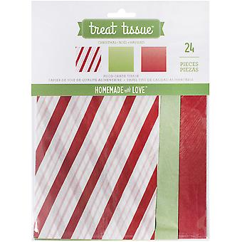 Homemade With Love Food Craft Tissue 24/Pkg-Christmas 374256