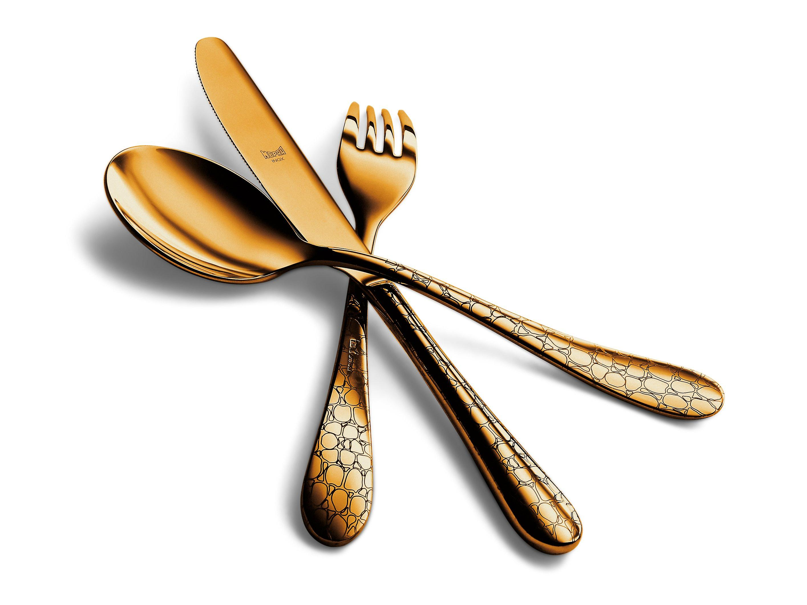 Mepra Coccodrillo Oro 5 pcs flatware set