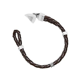 Guess mens bracelet stainless steel leather black UMB21517-S