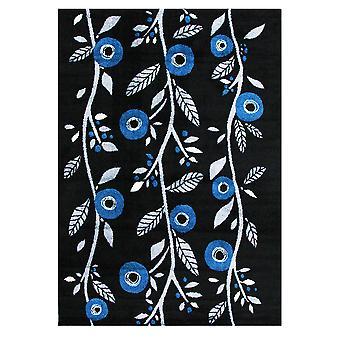 Moderne krikand blå blomster Runner tæppe Bombay