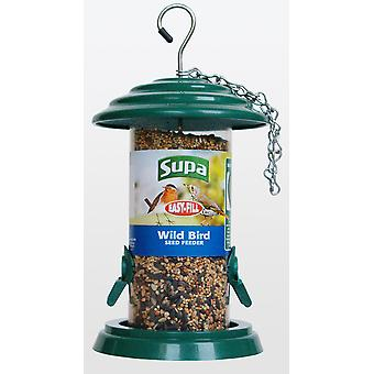 Supa Easy Fill 2 Port Plastic Seed Feeder Green 20cm (8
