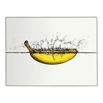 Banana Design Glass Worktop Saver Kitchen Protector Chopping Cutting Board