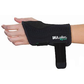 Mueller grøn monteret venstre hånd håndled skinne - sort