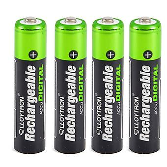 Lloytron AAA 900 mAh NIMH AccuUltra Battery Pack of 4 (Model No. B015)
