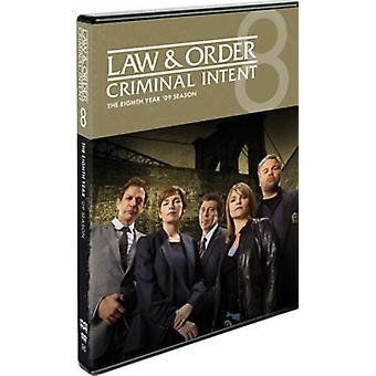 Law & Order Criminal Intent: Eighth Year [DVD] USA import