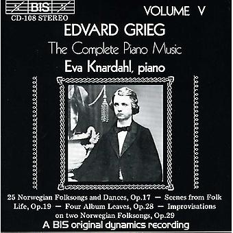 E. Grieg - Grieg: The Complete Piano Music, Vol. 5 [CD] USA import