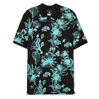 LRG RC Floral Print Polo Shirt Black
