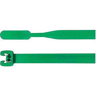 Cable tie 105 mm Green Open end HellermannTyton 10