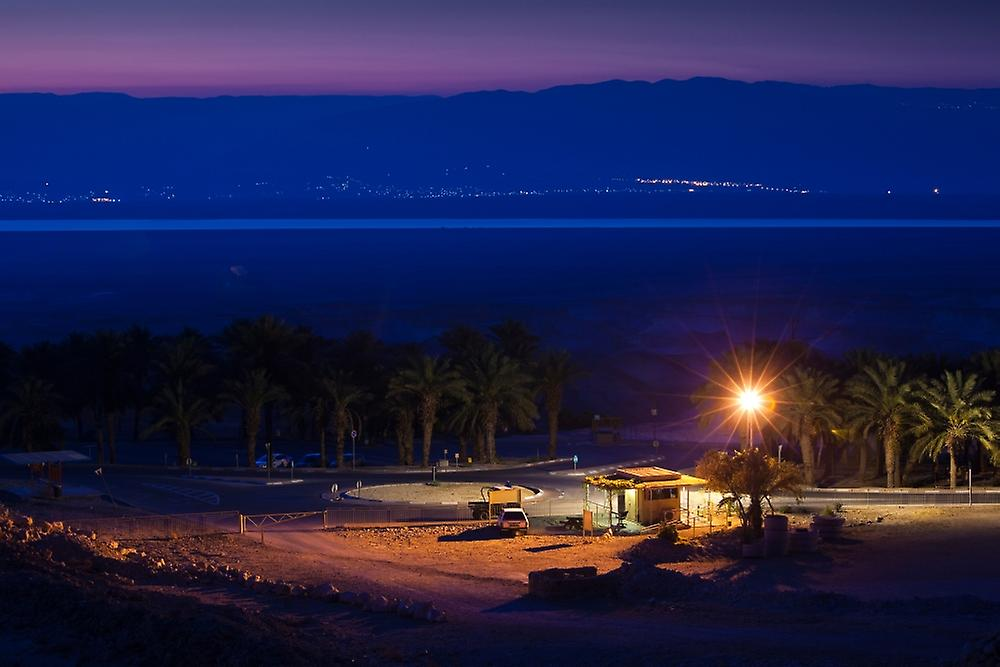 Dawn view of the Dead Sea from the Masada Snake Path Masada Israel Poster Print by Panoramic Images (36 x 24)