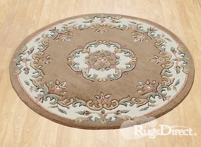 Royal Indian Beige Shades of green and cream on a beige background Rectangle Rugs Traditional Rugs