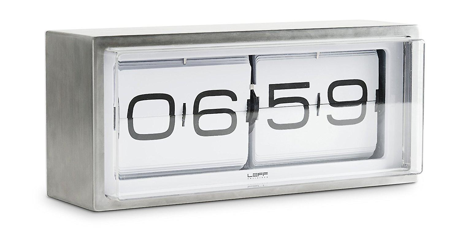 LEFF Amsterdam Brick Stainless Steel 24 Hours Wall/ Desk Clock, White