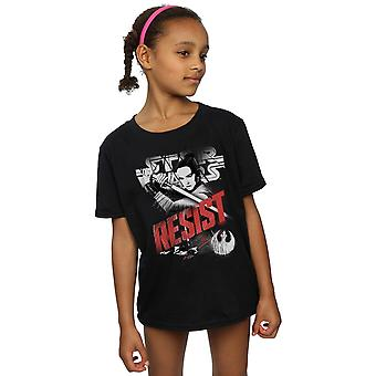 Star Wars Girls The Last Jedi Rey Resist T-Shirt