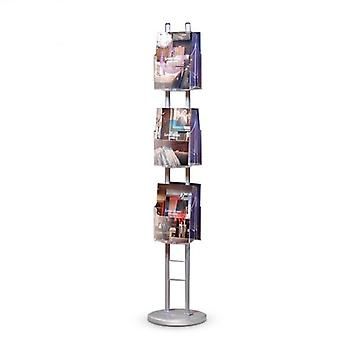 6 pocket A4 gebogen Brochure Stand