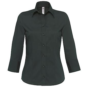 B&C Womens/Ladies Milano 3/4 Sleeve Corporate Poplin Shirt