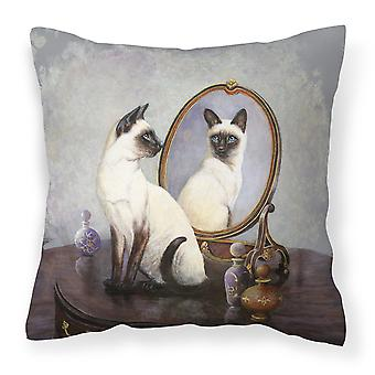Siamese Reflection by Daphne Baxter Canvas Decorative Pillow