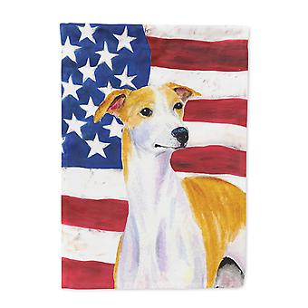 Carolines Treasures  SS4246-FLAG-PARENT USA American Flag with Whippet Flag