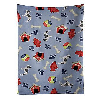 French Bulldog Dog House Collection Kitchen Towel