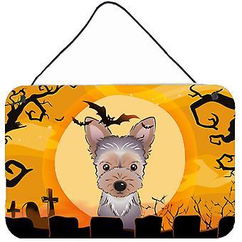 Halloween Yorkie Puppy Wall or Door Hanging Prints
