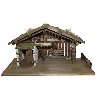 Nativity scene wood Nativity stable EPHRAIM XXL for characters up to 20 cm
