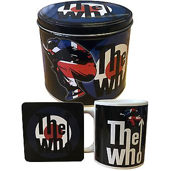 The Who Mug and Coaster Gift Set Target band logo presentation tin Official