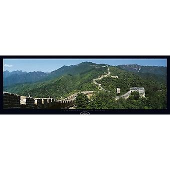 Great Wall of China Mutianyu plakat Print af Tomas Barbudo (37 x 13)