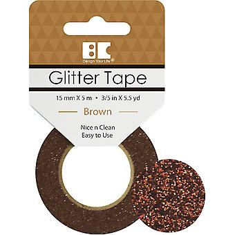 Best Creation Glitter Tape 15mmX5m-Brown GTS-012