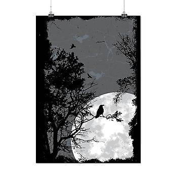 Matte or Glossy Poster with Night Raven Crow Nature | Wellcoda | *d1382