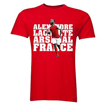 Alexandre Lacazette Arsenal Player T-Shirt (Red) - Kids