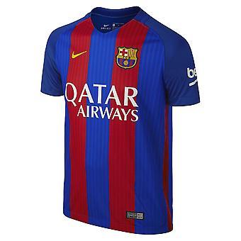 2016-2017 Barcelona Home Nike Shirt (Kinder) - mit sponsor