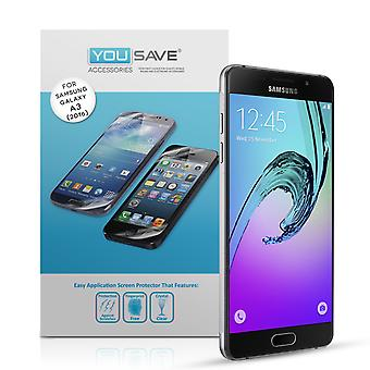 Yousave Samsung Galaxy A3 (2016) Screen Protectors - 5 Pack