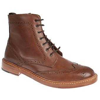 Justin Reece Mens Goodyear Welted Brogue Style  Boots