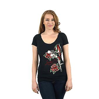 Lucky 13 ladies shirt rose fairy