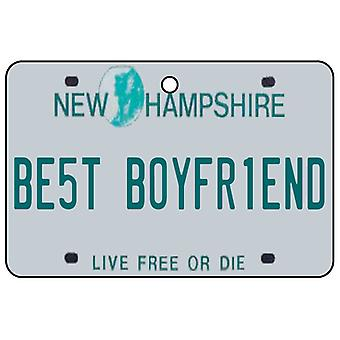New Hampshire - Best Boyfriend License Plate Car Air Freshener