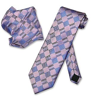 Antonio Ricci NeckTie Handkerchief Pattern Men's Neck Tie Set