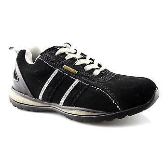 Mens New Grafters Leather Safety Lightweight Lace Up Boots Trainers Shoes
