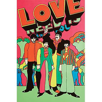 Beatles Love All You Need Is Love Poster Print