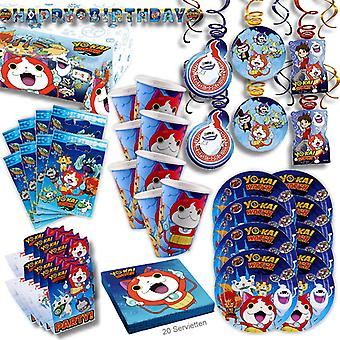 Yo Kai watch party set XL 68-teilig for 8 guests yokai decoration party package