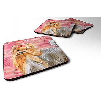 Set of 4 Yorkshire Terrier Love Foam Coasters Set of 4