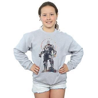 Marvel Mädchen Avengers Infinity Krieg Thanos Skizze Sweatshirt