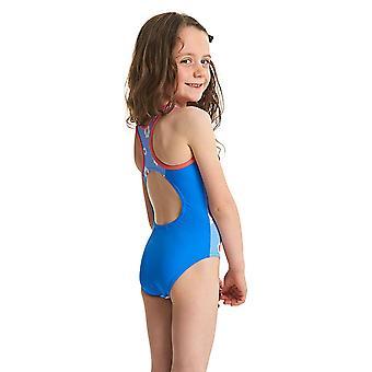 MITTELERWEILE Mädchen Urlaub Actionback Badeanzug - Blue/Multi