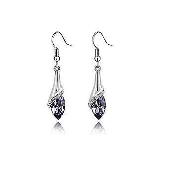 Womens flickor ljus violett sten Fold Drop örhängen Crystal sten BGCW42