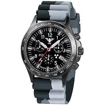 KHS watches mens watch black platoon titanium chronograph KHS. BPTC. DC1