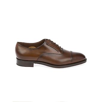 Edward green men's CLAYDONDARKOAKANTIQUE brown leather lace-up shoes