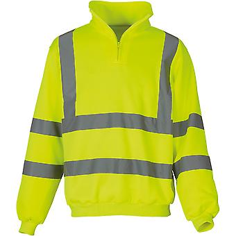 Yoko Mens High Vis 1/4 Quarter Zip Sweatshirt