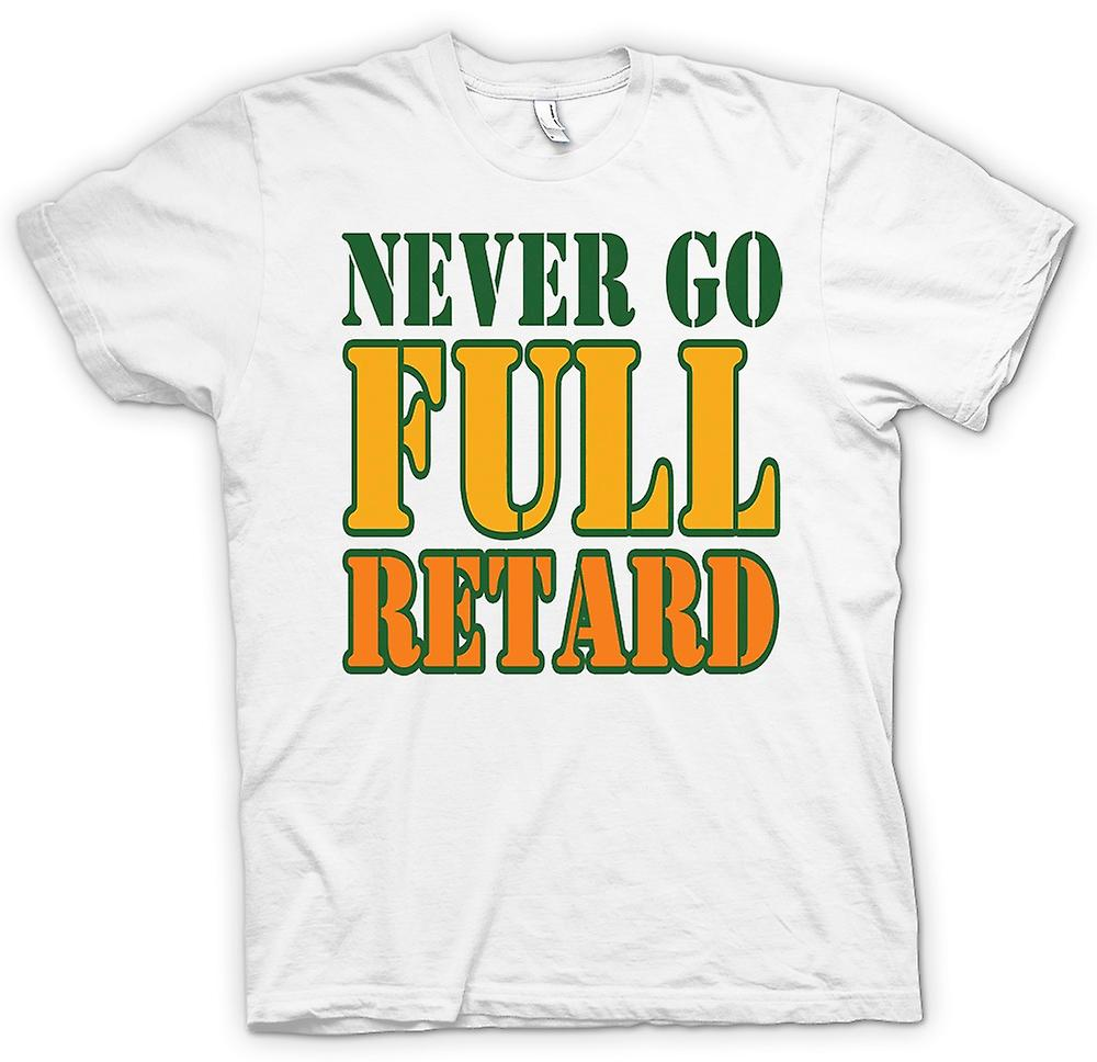 Mens T-shirt - Never go full retard Tropic Thunder - Movie - Funny